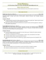 Tutor Resume Sample Outathyme Com