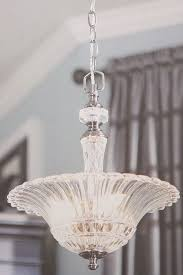 allen roth colfax 3 light pendant polished pewter crystal glass