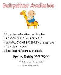 babysitter ad doc tk babysitter ad
