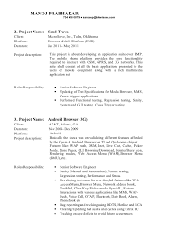 Resume Template Mobile Application Testing Sample Resume Best
