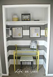 diy closet office. Work Space In A Closet Via Hometalker Shelly @Life On Sale Diy Office W