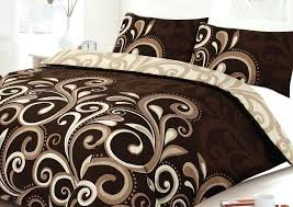 large size of chocolate brown super king duvet covers more views aster scroll chocolate printed duvet