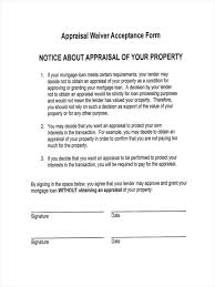 6 Appraisal Waiver Form Samples - Free Sample, Example Format Download