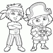 Small Picture Diego Dora Colouring Pages Dora Diego Coloring Pages Print Dora