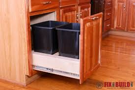 kitchen cabinet plans. Pull Out Trash Can Kitchen Cabinet Plans Project L