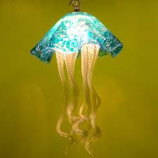 turquoise chandelier lighting. Buy A Hand Made Jellyfish Pendant Light Turquoise Art Glass Chandelier Lighting