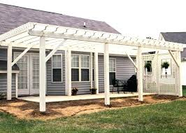 pergola with privacy wall a large white patio trellis with a lattice privacy wall pergola privacy