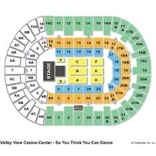 Valley View Seating Chart 34 Actual Valley View Casino Center Seating Chart Seat Numbers