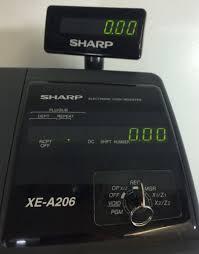 sharp xe a206. sharp xe a206