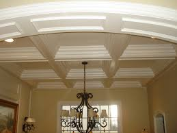 coffered ceiling cost with exciting chandelier and cream wall for charming  home decoration ideas