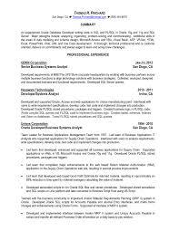 ... sample resume for experienced pl sql developer oracle ...