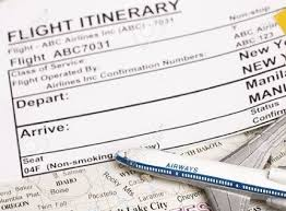 Another Word For Itinerary Is How To Get Flight Itinerary And Hotel Bookings For Visa