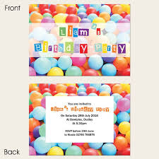 Party Invitations Kids Birthday Invitations Soft Play Party