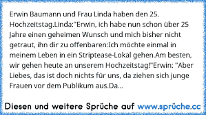 Erwin Baumann Und Frau Linda Haben Den 25 Hochzeitstaglindaerwin