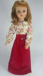 "Vintage 1965 MADAME ALEXANDER Polly 17"" DOLL Auburn Red Hair & Gown Read  Disc. 