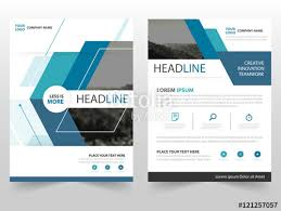 design proposal layout blue triangle vector business proposal leaflet brochure flyer