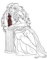 Aphrodite Coloring Pages 2 Aphrodite Face Colori Aphrodite Coloring