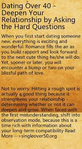 Dating Over      Deepen Your Relationship by Asking the Hard     Dating Over      Deepen Your Relationship by Asking the Hard Questions   dating advice for single moms   Pinterest   The hard  Dating and The o     jays