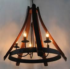 Cervantes Wine Barrel Chandelier Recycled Oak Staves And Hoop Along With  Beautiful Wine Barrel Chandelier (
