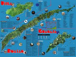 bay islands voice  guide  map to roatan utila  guanaja