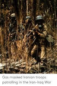 Vietnam And Iraq War Venn Diagram Gas Masked Iranian Troops Patrolling In The Iran Iraq War