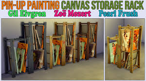 pin up painting canvas storage rack by ironleo78