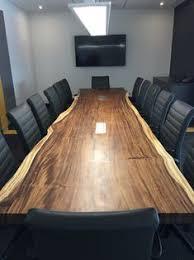 live edge parota conference table