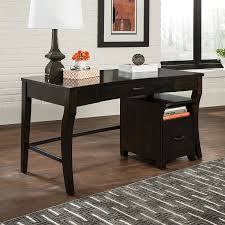 scott living contemporary smokey black writing desk