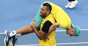 Born 17 february 1999) is an australian professional tennis player. Atp Cup Nick Kyrgios Alex De Minaur Lead Australia To Epic Win Over Britain In Quarter