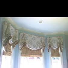 balloon shades cornice boards window coverings window treatments bay window roman shades window ideas master bedrooms valances