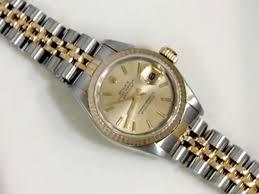 rolex oyster perpetual datejust bi metal ladies wrist watch rolex oyster perpetual datejust bi metal ladies wrist watch vintage w8571