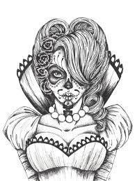 Skull Coloring Pages 2 Day Of The Dead Vicky Day Dead Collection