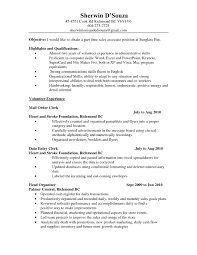 Resume Objective For Part Time Job It Resume Cover Letter Sample