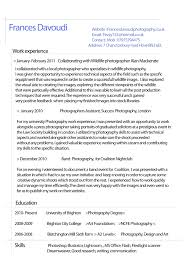 Photography Resume Resume Photographer Resume 4