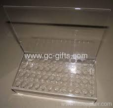 Lipstick Display Stands Clear acrylic cosmetic display with sign holder for lipstick from 52