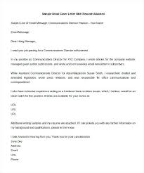 Sample Email Cover Letters Sample Email Cover Letter Inquiring About