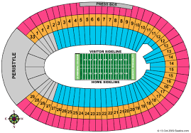 Portland Memorial Coliseum Detailed Seating Chart Los Angeles Memorial Coliseum Seating Chart