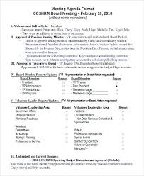 Format Of Agenda Professional Meeting Template Compatible Moreover ...