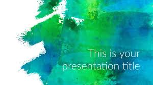 Cool Backgrounds For Ppt Free Art Powerpoint Template Or Google Slides Theme