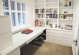 building an office desk. Modern Study In High Gloss White With Height Adjustable Desk Building An Office