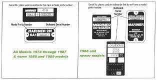 Mariner Outboard Serial Numbers Mercury Mariner Outboard