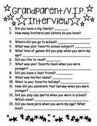 What Do You Do For Fun Interview Question Grandparents Day Interviewthis Is An Activity I Used With My 1st