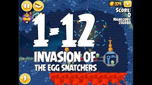 Angry Birds Seasons Invasion of the Egg Snatchers Level 1-12 Walkthrough