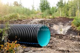 drainage ditch making system of drainage ditch in the woods for water colleting