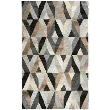 gray and tan area rug black rugs n