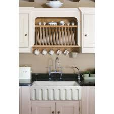 Kitchens With Farmhouse Sinks Empire Industries Caesar 30x18 Reversible Thick Edge Fireclay