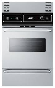 24 electric wall oven with stainless