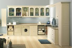 Image Basement Almond Laundry Room Cabinets Built Around Washewr And Dryer Closet Factory Laundry Room Cabinets Makeover Design Ideas Closet Factory