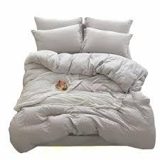 details about doldoa duvet cover set washed cotton bedding down comforter cover set 3 piece