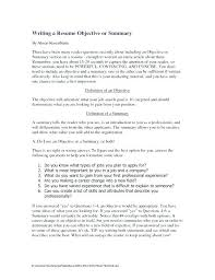 Summary Or Objective On Resume Here Are Objective For Resumes Goodfellowafbus 78